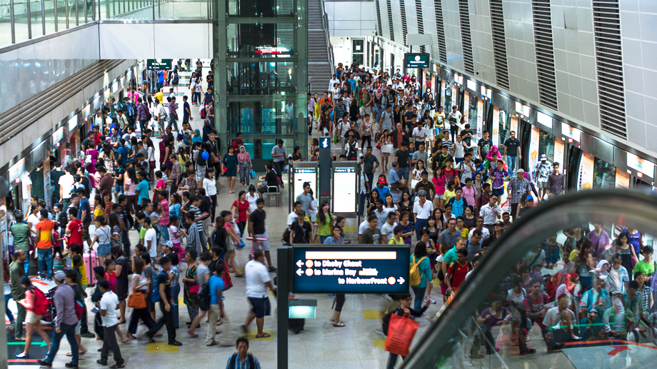 Singapore, MRT, Travel, Transport System, Container, People, No Foreign Lands