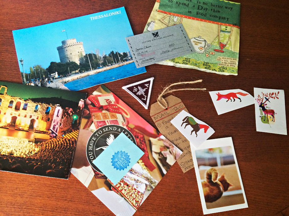 Goodies, penpals, snailmail, letter writing