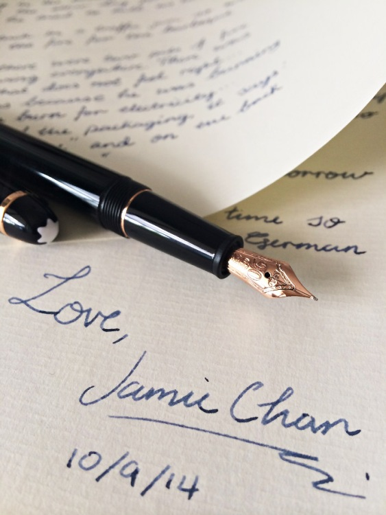 Penpal, Jamie Chan, Montblanc, Meisterstück, 90th anniversary, classique, Original Crown Mill Paper, rose gold, Midnight Blue