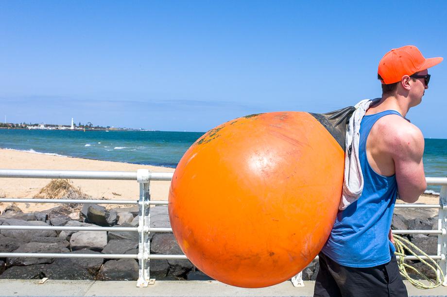 Instagram Worldwide meet, Melbourne, St Kilda, heavy lifting, orange