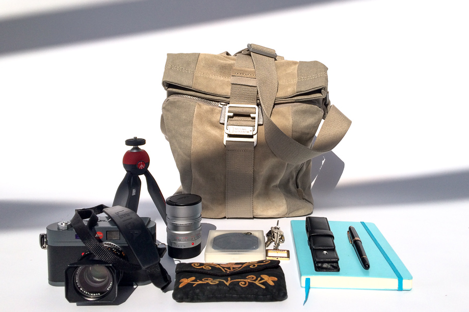 NG P2030 Slim Shoulder Bag, Manfrotto PIXI, Red, Cathay Photo, Product Review, Leuchtturm1917, Montblanc Meisterstuck, everyday carry, photographer, Jamie Chan, Leica M-E, Summilux