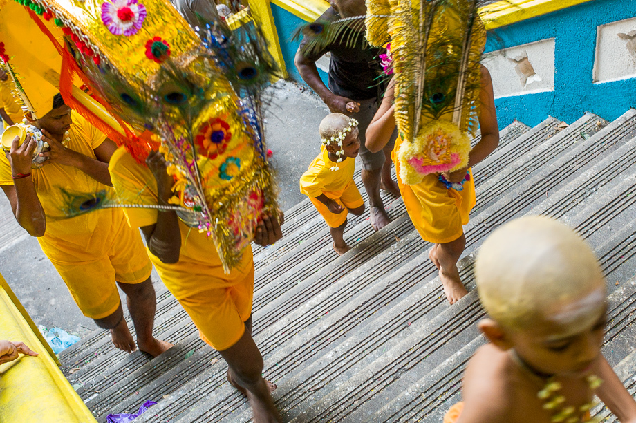Devotees, batu caves, Stairs, Thaipusam, 2015, Malaysia, Leica, Summilux, Jamie Chan, No Foreign Lands, Travel