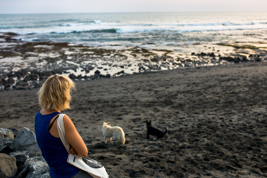 Jamie Chan, Beach, No Foreign Lands, Leica, Bali, Indonesia, Water, Travel, sunset, canggu, woman, dogs, echo, black sand